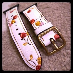 Coach Leather Apple Watch Band